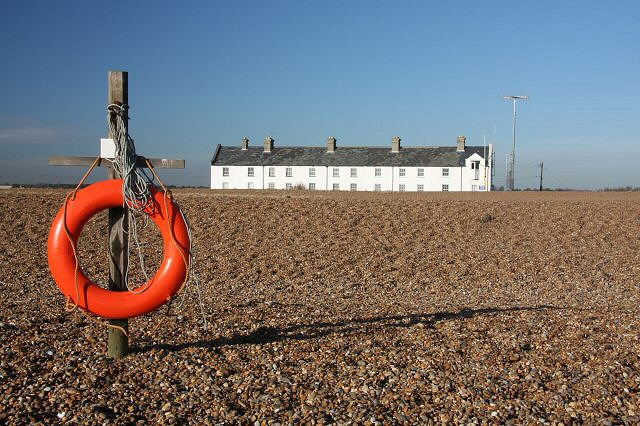 Coastguard cottages at Shingle Street