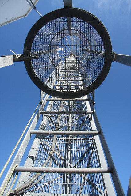 Coastguard station radio mast