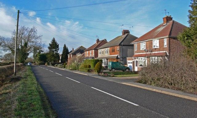 Houses along Aston Lane