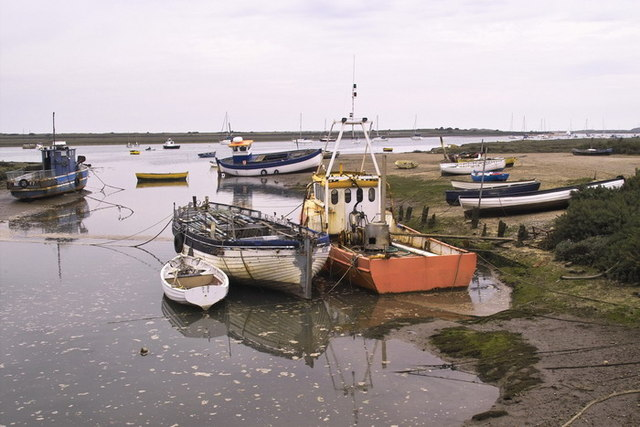Boats at Brancaster Staithe