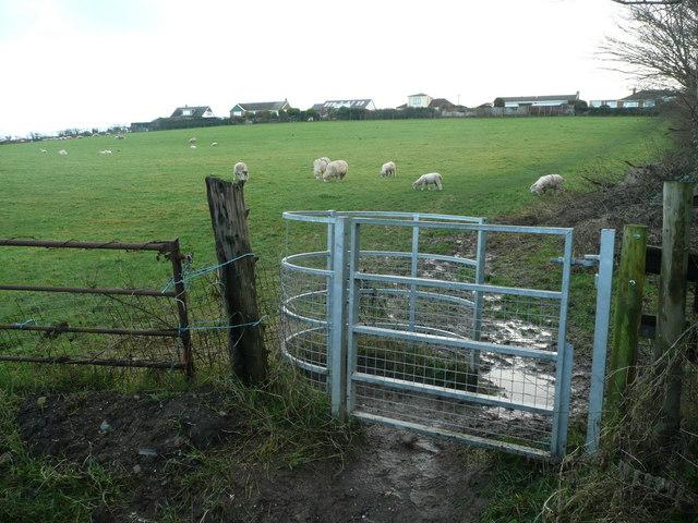 Kissing gate at Bloody Corner