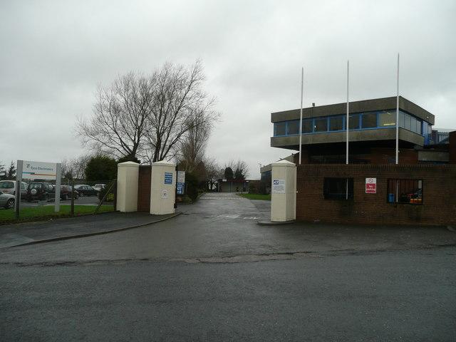 Entrance to Tyco Electronics