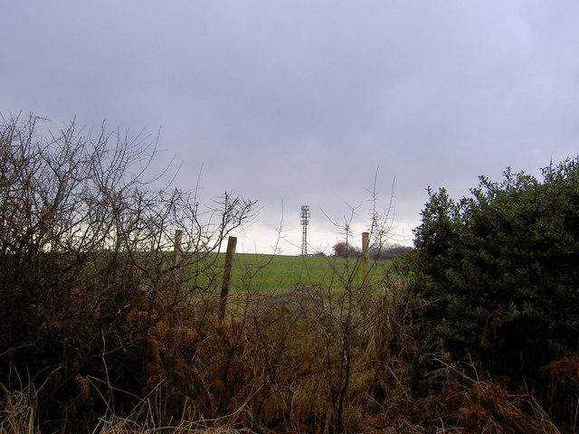 Telecoms mast from Bassingthorpe Lane