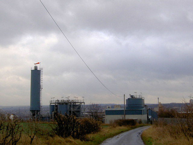 Windsock on industrial plant near Barbot Hall