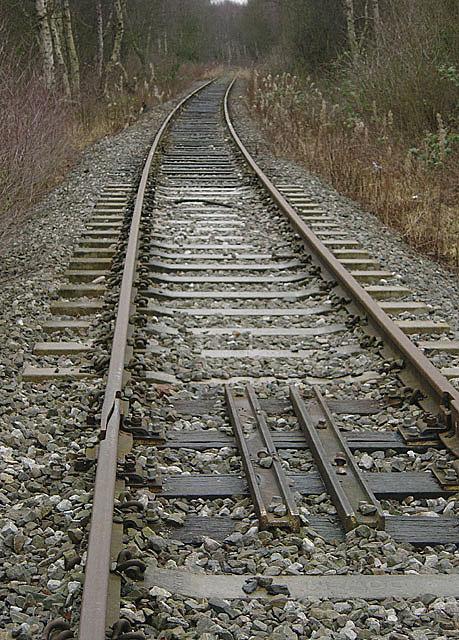 The railway to Calverton Colliery