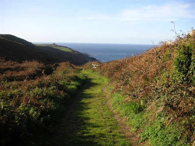 The track to Portheras Cove