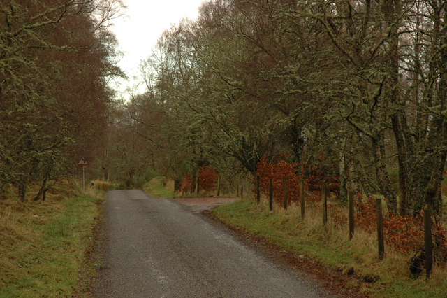 Road and entrance to houses near Redburn