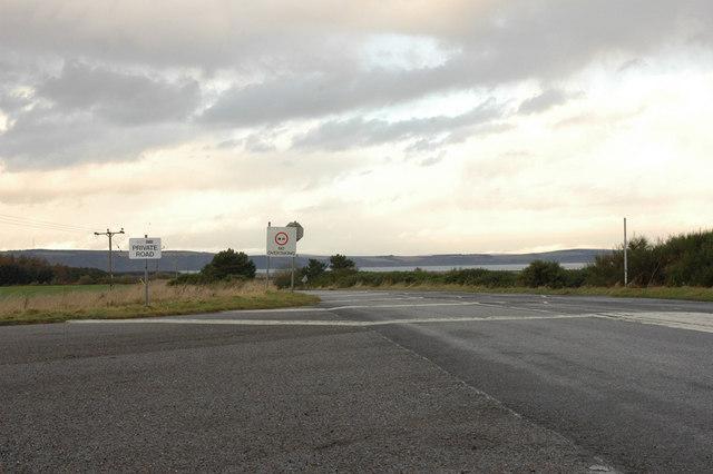 Private road to Whiteness Head