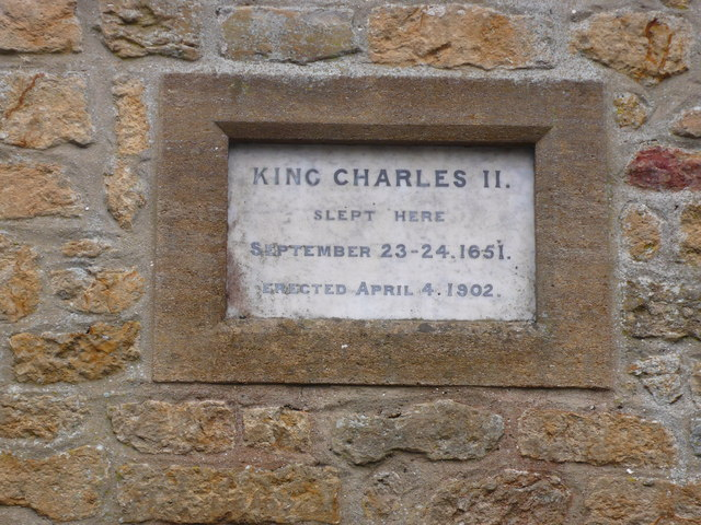 King Charles' slept  in Broadwindsor