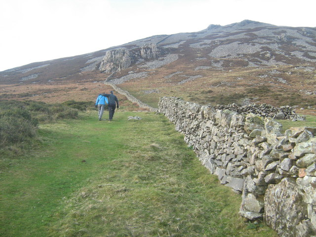 The footpath up Tre'r Ceiri from the B4417
