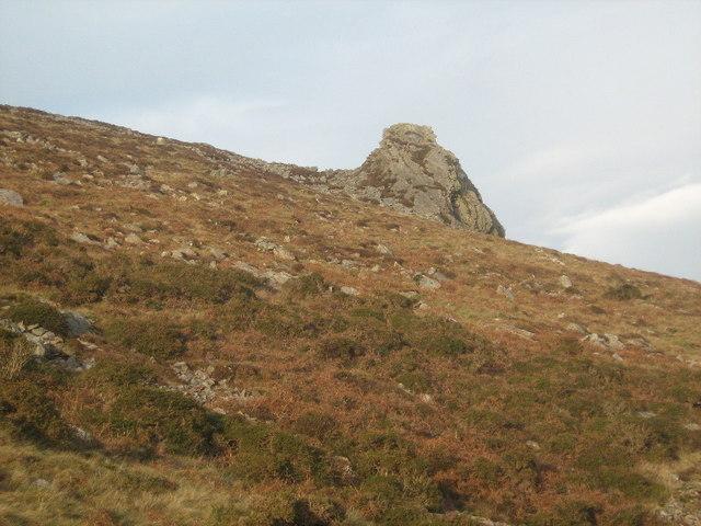 Rock buttress on Tre'r Ceiri