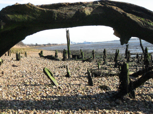 View along the River Stour towards Felixstowe