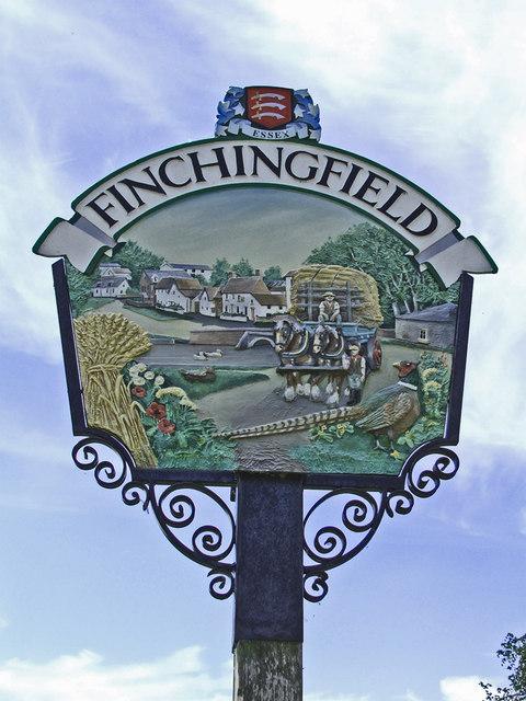 Village Sign at Finchingfield, Essex