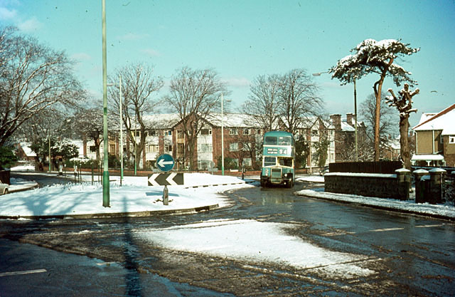 Roundabout at Egerton Road