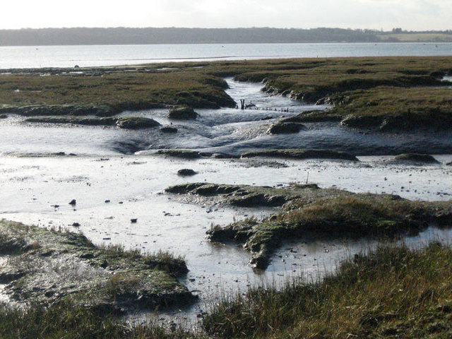 Looking across mudflats