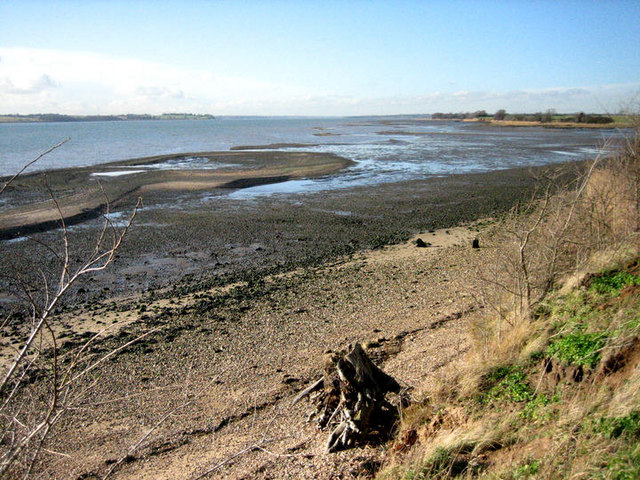 View west along the River Stour from Erwarton Ness