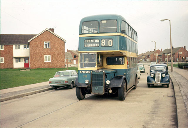 Birkenhead Corporation bus on Prenton Hall Road