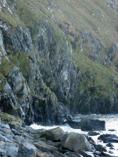 Cliffs on the  Gorlech headland