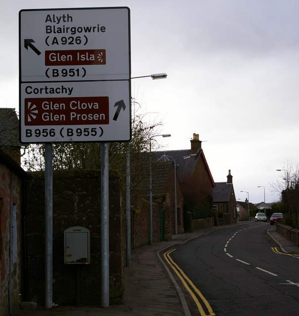 Signpost in Kirriemuir