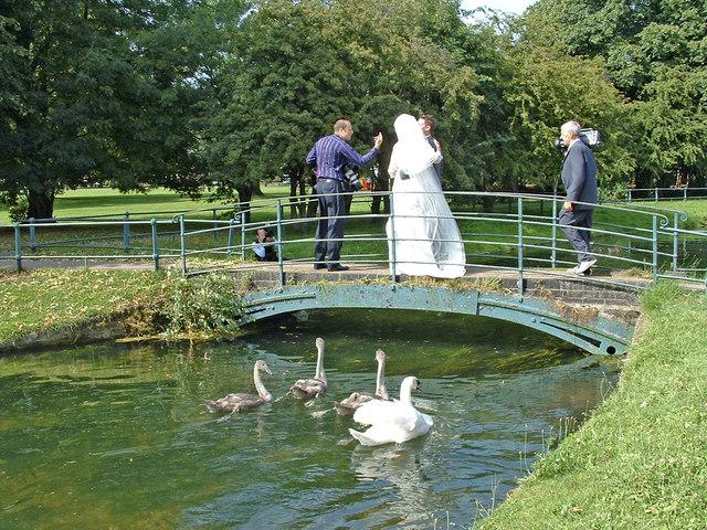 Bridge over the New River near St Augustine's Church, Broxbourne, Hertfordshire