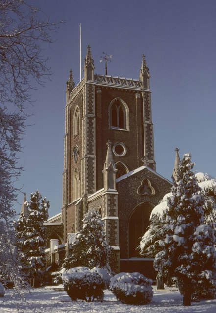 St Peter's Church in winter