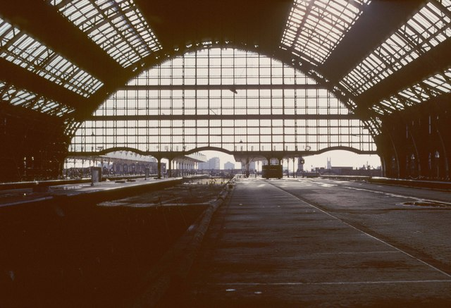 Inside a derelict Manchester Central Station