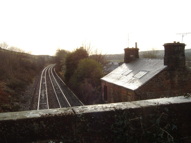 Railroad tracks through Auldgirth