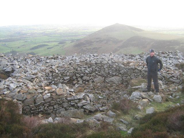 Hut circle on Tre'r Ceiri