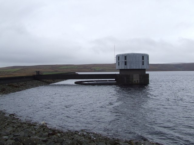 Grimwith Reservoir: Valve Tower & Overflow Outlet
