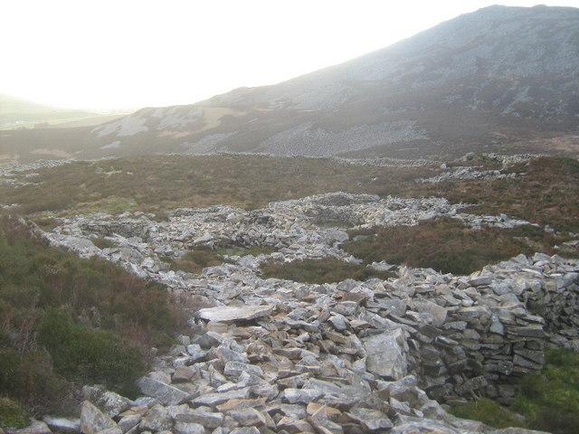 Hut circles on Tre'r Ceiri