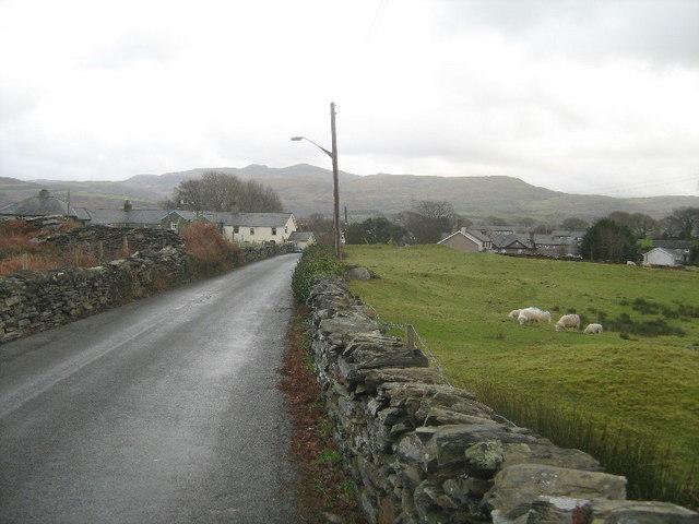 The lane to Penrhyndeudraeth