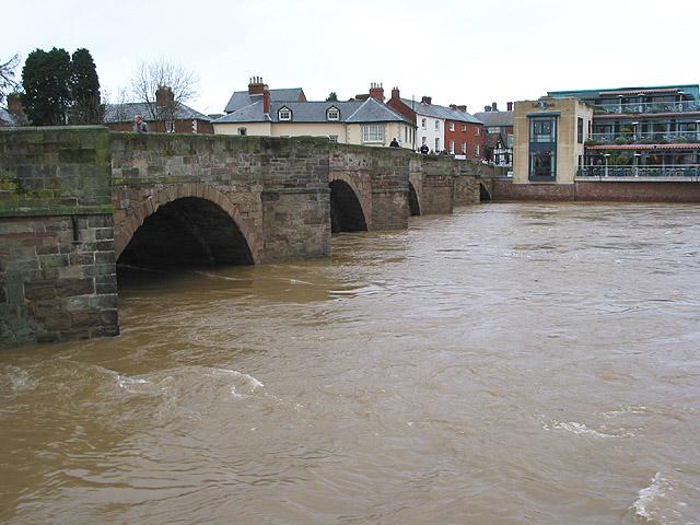 The Wye in flood