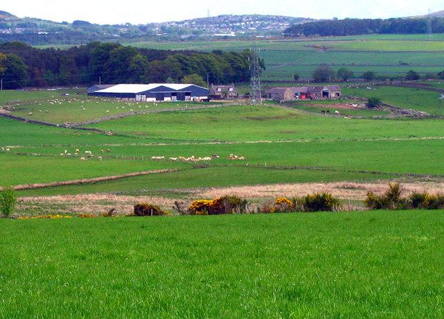 Farmland above Broadwater Farm