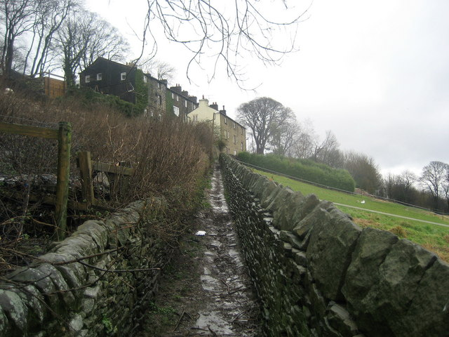 Path leading up to Laycock