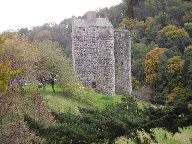 Neidpath Castle, near Peebles, Scottish Borders.