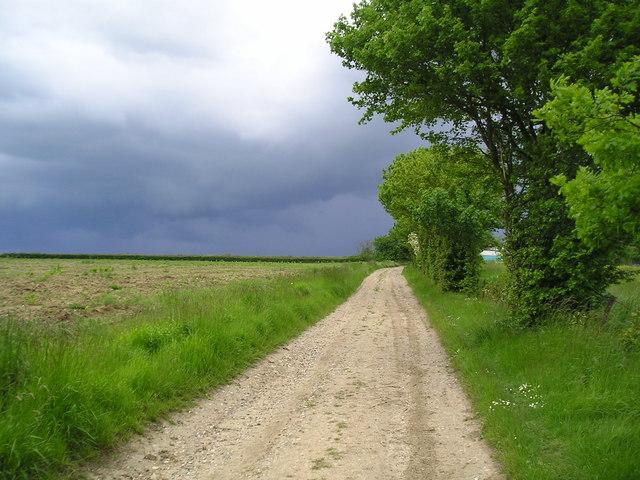 Storm approaching Kiln Lane Buxhall