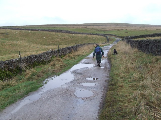 Approaching the junction of Skyreholme Bank with Forest Road