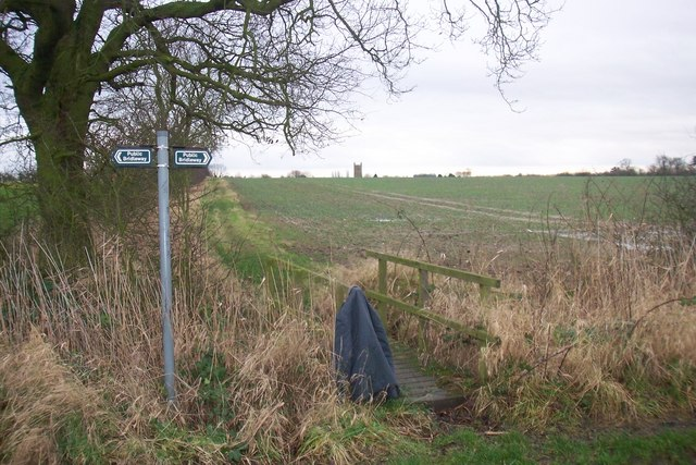 Looking toward Middle Rasen Church