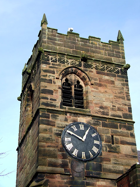 Tower and Clock, Church of St Mary and St Luke, Shareshill, Staffordshire
