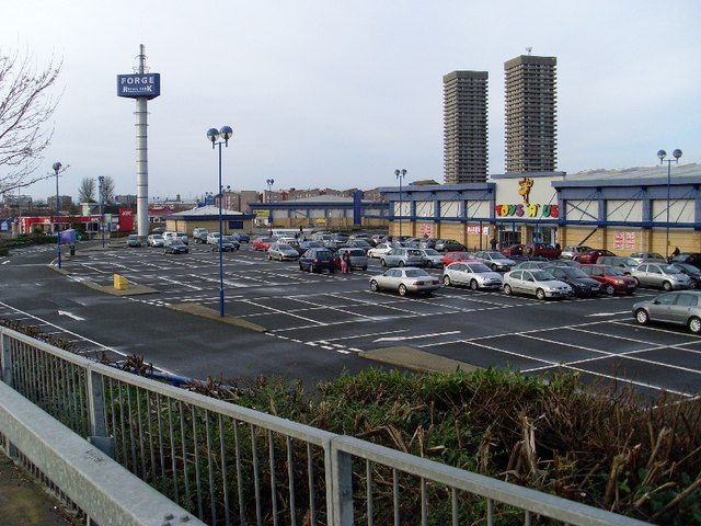 Forge Retail Park from Biggar Street