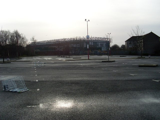 Celtic Park from the Forge car park