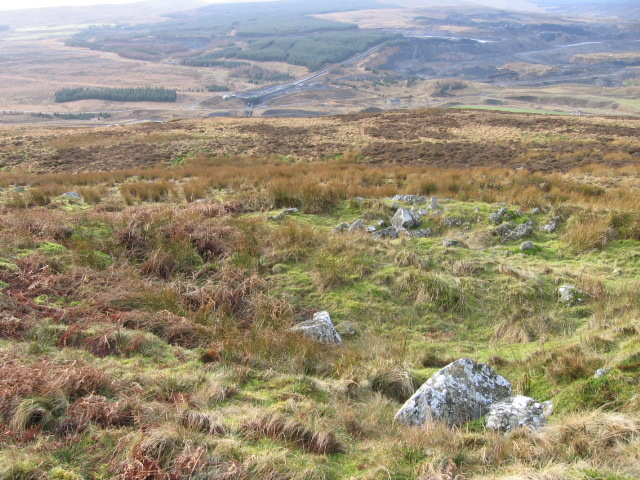 Hillside towards Glentaggart and Glespin opencast site