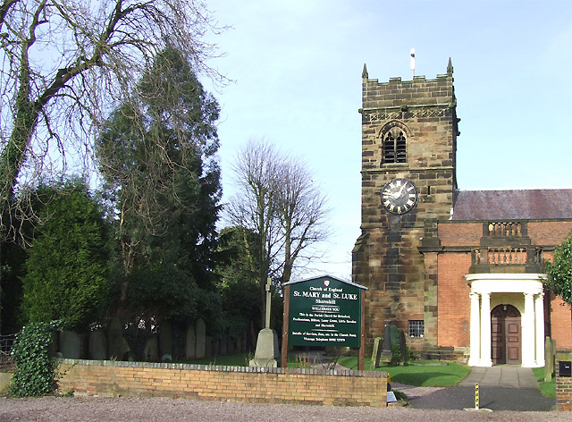 Church of St Mary and St Luke, Shareshill, Staffordshire