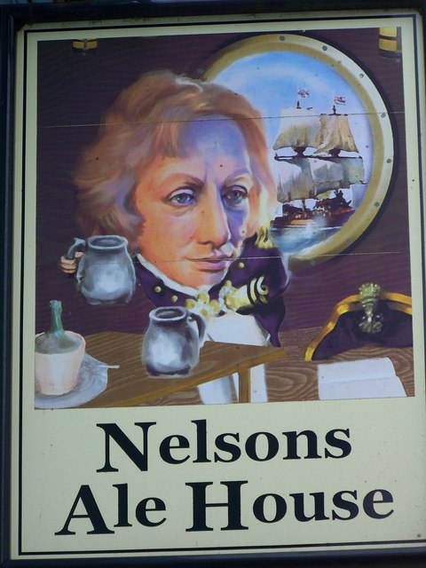 Sign for Nelsons Ale House, Blandford Forum