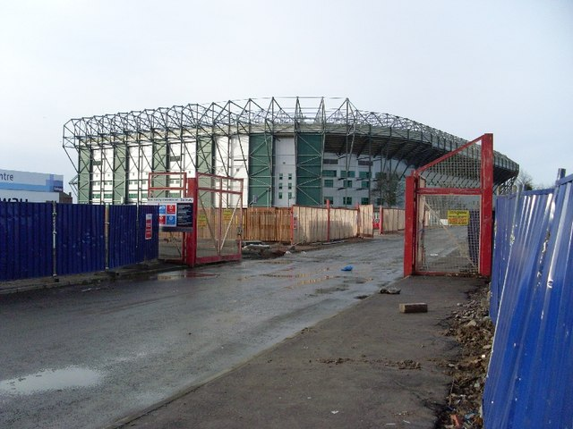 Celtic Park from Springfield Road
