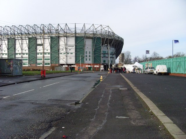 Celtic Park from Janefield Street