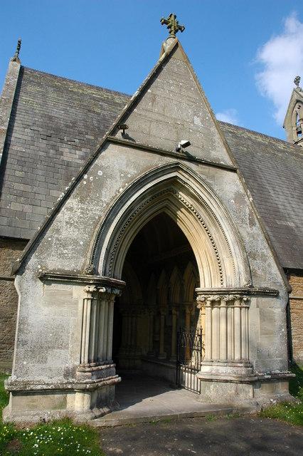 Porch to Catholic church, Hanley Swan