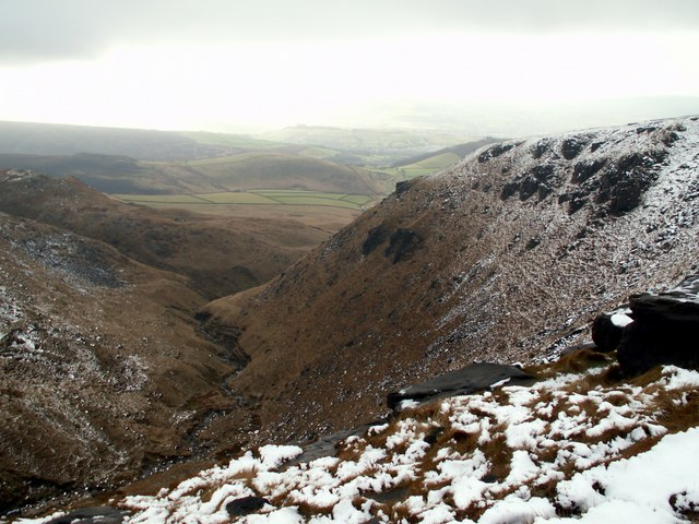 Dowstone Clough from Dog Rock