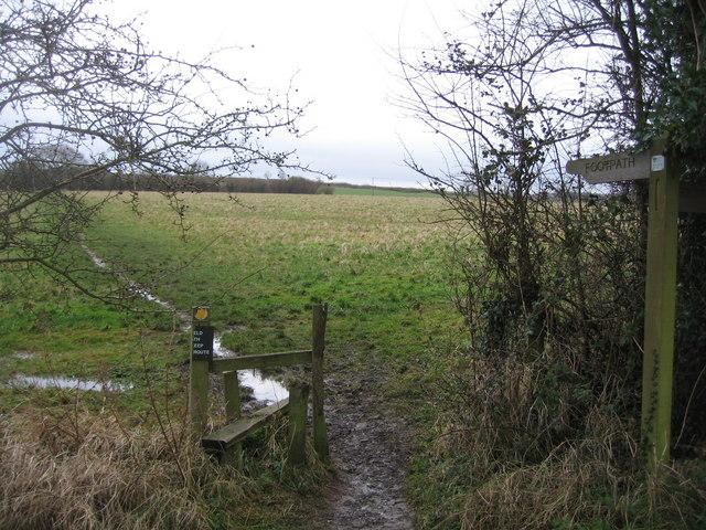 Footpath from Swing Bridge to Adam's Farm