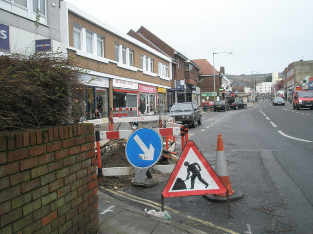Roadworks in Cosham High Street